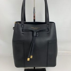 New Tory Burch Small Block-T Bucket Bag